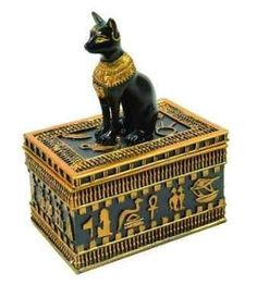 xx..tracy porter..poetic wanderlust...- Ancient Egyptian Cat Trinket  Box