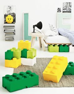 Giant Glossy Lego® Storage Blocks In Nine Fun Colors.