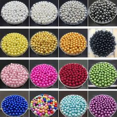100Pcs DIY Acrylic Round Pearl Loose Jewelry Beads Crafts Making Multi Color  | eBay