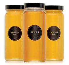 beeline honey jar and label packaging design