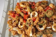 Fried Calamari with Hot Peppers | Kitchen Trials  This is the closest I've been able to copy cat the calamari at The Capital Grille. So yummy!