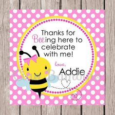 Girls personalized first birthday bumble bee by sewingbygrace printable pink bumble bee birthday party invitation personalized beeday invitation in pink and yellow for any age you print 0032 filmwisefo Images