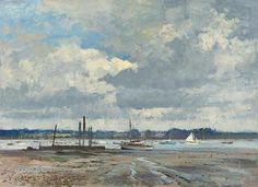 Edward Seago - Storm Clouds over the Orwell