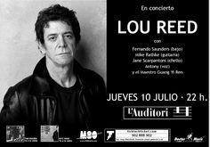 Carteles históricos: LOU REED en L'Auditori de Barcelona, Julio 2003.