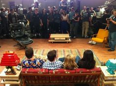 An amazing picture taken by Jerry Trainor right as they were about to shoot the last shot of iCarly.