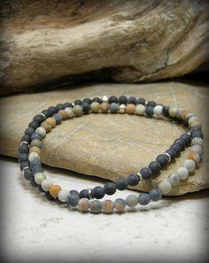 "Love this.... Needs to be 7"" Mens Gemstone Bracelet Beaded Bracelet Set by StoneWearDesigns"