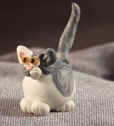 Hey, I found this really awesome Etsy listing at https://www.etsy.com/listing/210273729/marblemini-light-gray-and-white-tabby