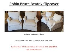 Robin Bruce Beatrix Chair. Available Stationary or Swivel. You Choose the Fabric.