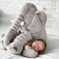 This giant elephant pillow is so soft and plush. Your baby will love to be cuddled up in this pillow!