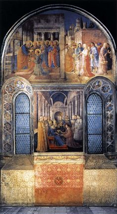 West wall of the chapel by ANGELICO, Fra