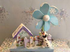 CASITA DE NAVIDAD OLAF EN PASTA FLEXIBLE.By Elvia Padilla. Contacto: elii.padilla@hotmail.com