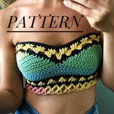 Crochet bralette PATTERN , crochet top pattern Bra…