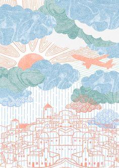 Orie's scenery art. #景色イラスト #景色  #イラスト #アート #art #おしゃれイラスト Diagram, World, Painting, Painting Art, Paintings, The World, Painted Canvas, Drawings
