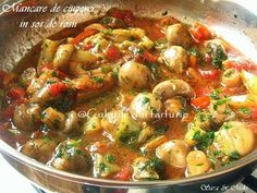 » Mancare de ciuperci in sos de rosiiCulorile din Farfurie Kung Pao Chicken, Ratatouille, Tofu, Risotto, Dishes, Meat, Vegetables, Cooking, Ethnic Recipes