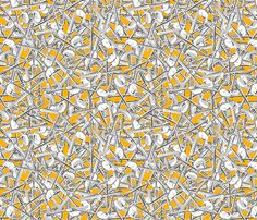 the_high_entropy_of_silver_golden_synergy0003 fabric by glimmericks on Spoonflower - custom fabric