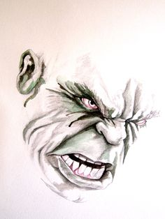 This might be one of the coolest pieces of The Hulk art ever... Want!