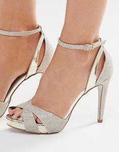 Image 1 ofCarvela Gifted Gold Metallic Heeled Sandals