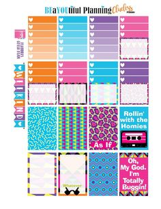 So I have created a printable for the Happy Planner, Personal Sized and EC. I went with a theme for