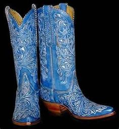 Corral Women's Fluorescent Blue Tribal Embroidery Boot - R1199 ...