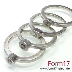 Platin 950 + Brillant /  Princess Diamant - Form17 SchmuckManufaktur