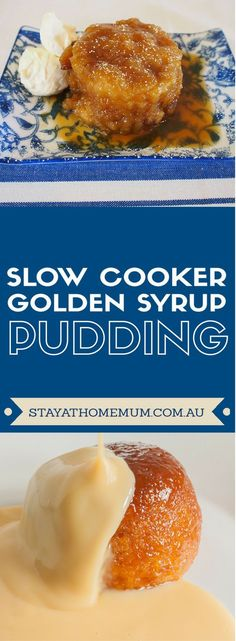 Yes you can cook a Golden Syrup Steamed Pudding in the slow cooker - and it is FANTASTIC. Slow Cooker Desserts, Slow Cooker Cake, Crock Pot Desserts, Crock Pot Slow Cooker, Crock Pots, Delicious Desserts, Slow Food, Slow Cooking, Slow Cooked Meals