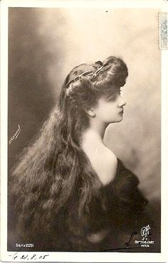 Vintage long hair with combs