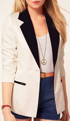 black and white blazer $29.83