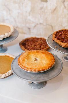 Fall pies: http://www.stylemepretty.com/pennsylvania-weddings/2015/11/27/elegant-outdoor-fall-wedding-with-an-apple-orchard-ceremony/ | Photography: Emily Wren - http://emilywrenweddings.com/