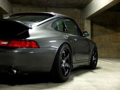 Gotta' love a slate grey Porsche 911 with trick wheels and a killer stance! (Click on photo for high-res. image.)