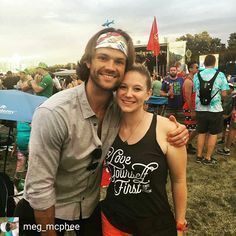 "Today: Jared and Megan (@meg_mcphee) at ACL festival ( Austin City Limits Music Festival ). ""Love Yourself First"""