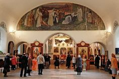 Beautiful Orthodox Churches of Russia No. 7: Martha Mary Convent - frescoes and icons are the work of Mikhail Nesterov