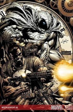 The Punisher and Moon Knight by David Finch #davidfinch #moonknight #punisher