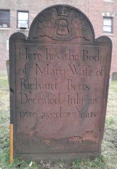 Uzal Ward. Gravestone of Mary Betts, 1759, Jamaica, Queens.