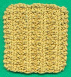 Seed Rib Knitting Pattern Stitch (knit and purl, reversible) - Written instructions.