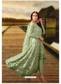 Green Designer Heavy Net Party Wear Suit Amazing Red, Designer Salwar Suits, Patiala Salwar, Silk Lehenga, Indian Ethnic Wear, Beautiful Love, Green Fabric, Work Fashion