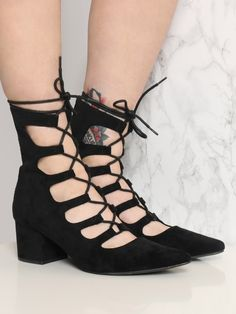 """<p>9"""" Shoe Height </p><br /> <p>2"""" Heel Height </p><br /> <p>100% Man Made Materials </p><br /> <p>Measurements taken from a size 9 </p>"""