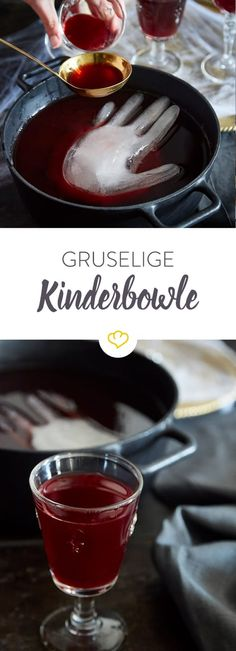 Creepy kids punch for Halloween- Gruselige Kinderbowle für Halloween Do you also hear the spirits rest? At least they have put on this punch hand – or rather put in the punch. The best drink for a children& party! Dessert Halloween, Halloween Buffet, Halloween Cans, Halloween Food For Party, Cute Halloween, Halloween Cupcakes, Halloween Treats, Halloween Decorations, Halloween Ideas