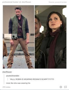 CAN WE TALK ABOUT THIS PLEASE? #outlawqueen>>>> and he's just in the corner smirking like 'this is mine'