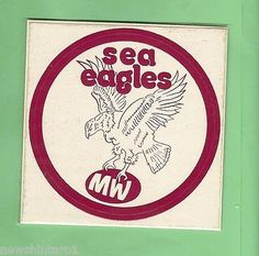 Rugby League NRL Cards 25583: Early Rugby League Sticker - Manly Sea Eagles -> BUY IT NOW ONLY: $40 on eBay!