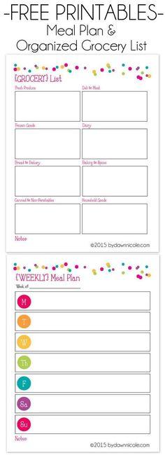 Everything Mom grocery list printable u2026 Pinteresu2026 - example grocery list