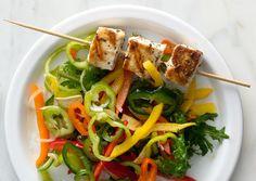 Rosemary Swordfish Skewers with Sweet Pepper Salad | 51 Healthy Weeknight Dinners That'll Make You Feel Great