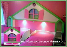 Dolls house headboard and two single beds