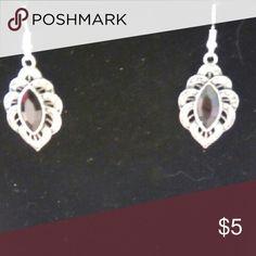 Earrings Beautiful black & silver earrings Jewelry Earrings