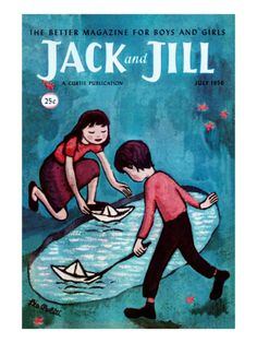 Jack and Jill Magazine Cover, illustrated by Leo Politi