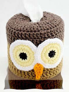 Toilet Paper Roll Cover. Crochet. Owl. by EuniceNeedlecraft