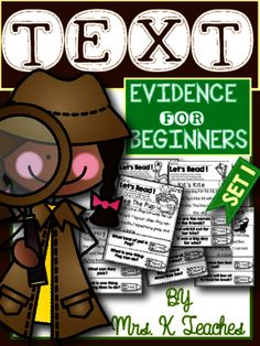 Text Evidence for Beginners(Explicit) from Kadeen Whitby Shop on TeachersNotebook.com -  (37 pages)  - This Text Evidence packet is a fun way for kids to work on comprehension and proving their answers by looking back and color coding the answers in the text. You can use this packet for fluency also.