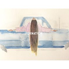 Beyonce Formation slays | watercolor wasserfarbe painting watercolor | by Sharareh Shahedali