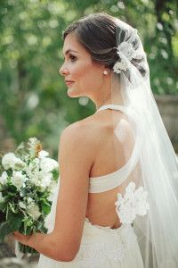 Cross back wedding gown.