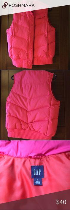 Pink Gap vest Pink Gap vest. Orange inside. Like new. Never worn. GAP Jackets & Coats Vests