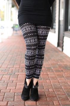 First Snowfall of the Year Patterned Leggings
